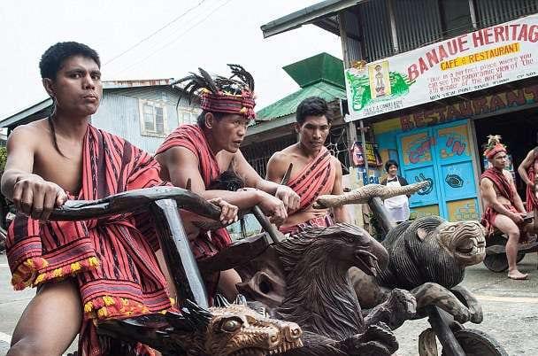 tribesmen handcrafted wooden bikes