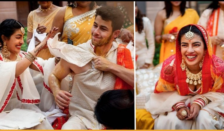 Unseen Pictures Of Priyanka Chopra And Nick Jonas From Their Haldi Ceremony Are Out
