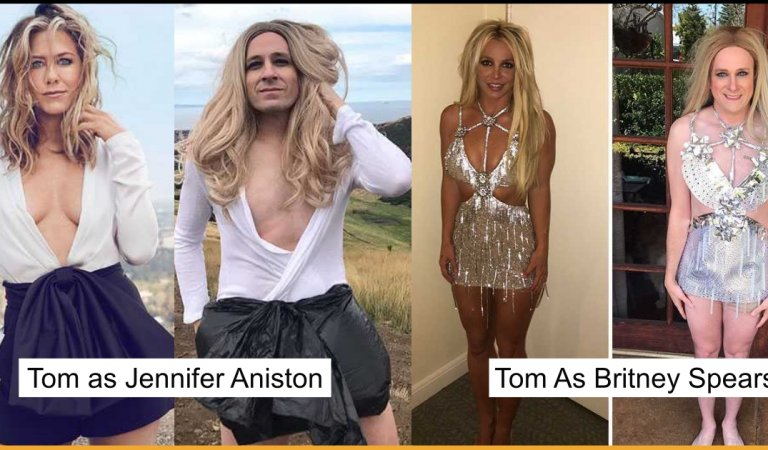 15+ Pictures Of Tom Lenk Recreating Celebrities Weird Costumes Are Hilarious