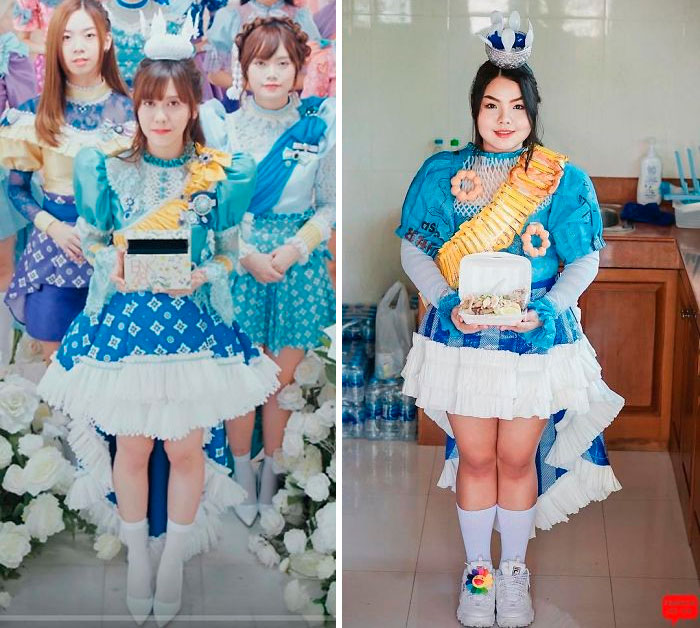 Pictures Portray Thai Model Creating Cosplay Recreations of Celebrities At A Very Low Cost