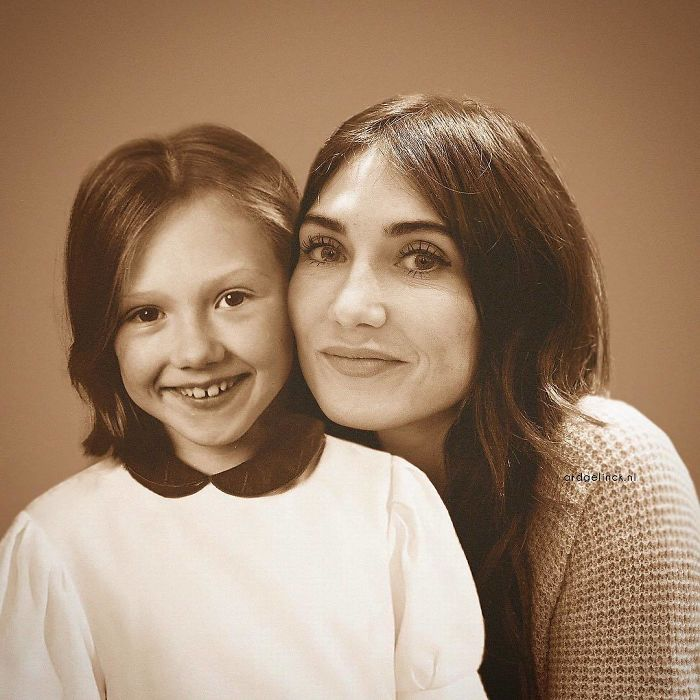 Photoshopped Pictures Of Your Favorite Celebrities With Their Younger Selves