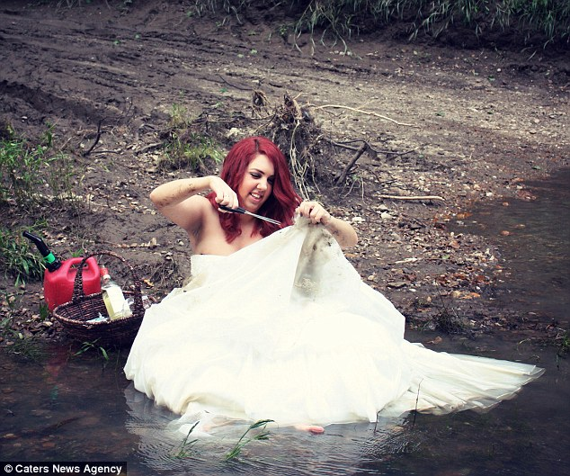 Woman Has A Divorce Photoshoot And Sets Her Wedding Dress On Fire