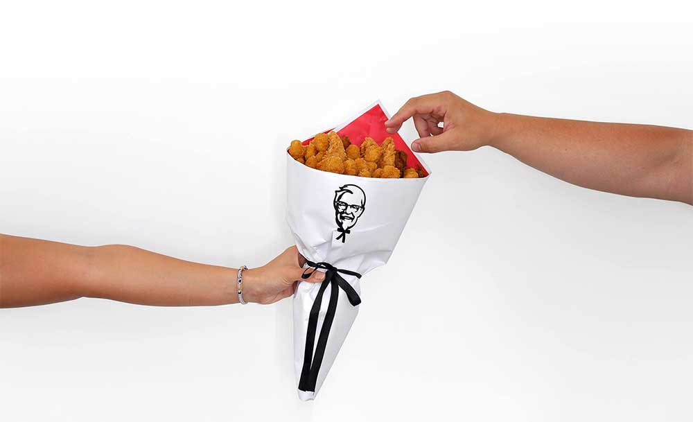 Couple Loved KFC So Much That They Got Married With A Bouquet Of KFC Chicken