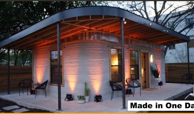 This Home Is Made By A 3D Printer In Just A Day