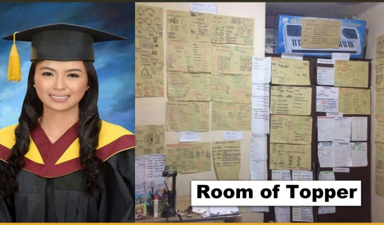 Brother Shares Pictures Of Sister's Room Full Of Notes Who Is The Topper Of Architecture Board Exams