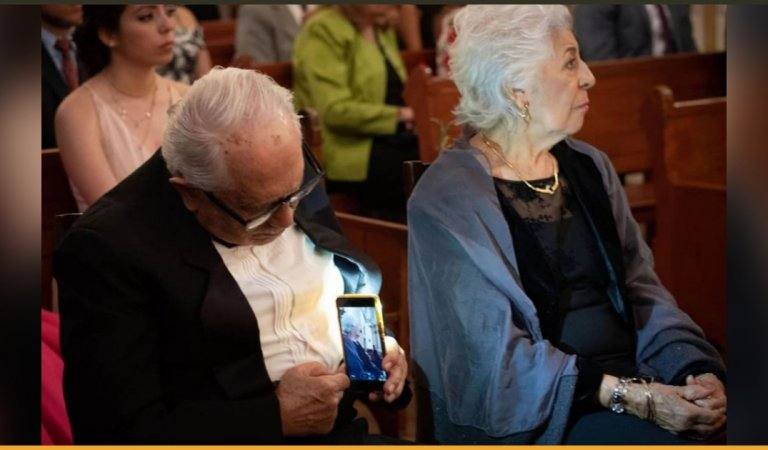The Story Behind The Viral Picture Of An Elderly Couple At A Wedding