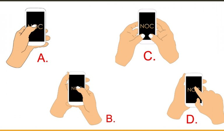Know What Your Style Of Holding A Mobile Phone Says About Your Personality