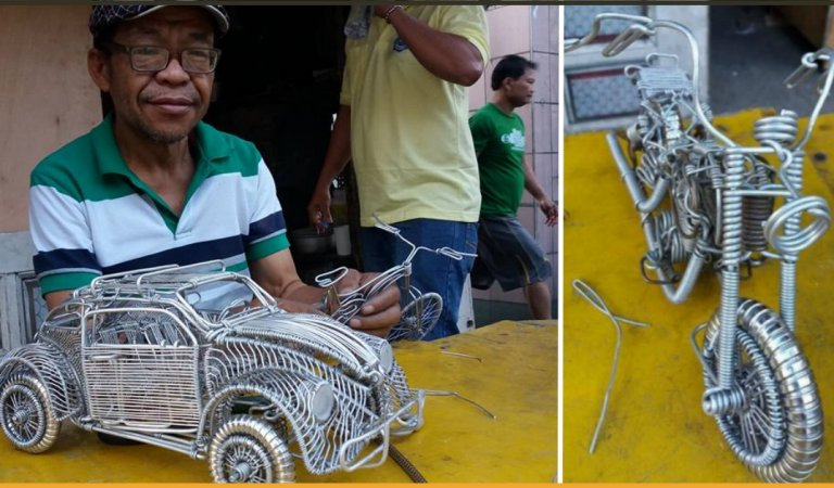 Meet A Filipino Driver Who Can Create Amazing Masterpiece With Aluminium Wires