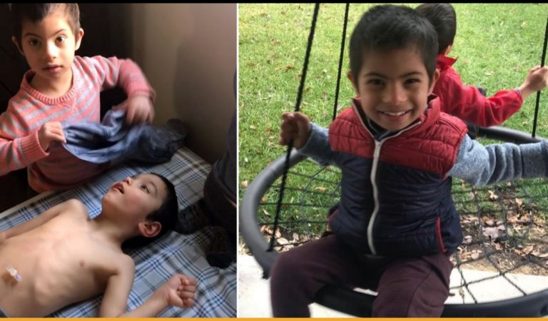 Adopted Boy With Down's Syndrome Takes Care Of His Two Disabled Brothers