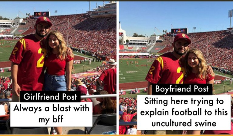 8 Couples Shared Same Pictures With Different Captions and The Result Is Hilarious