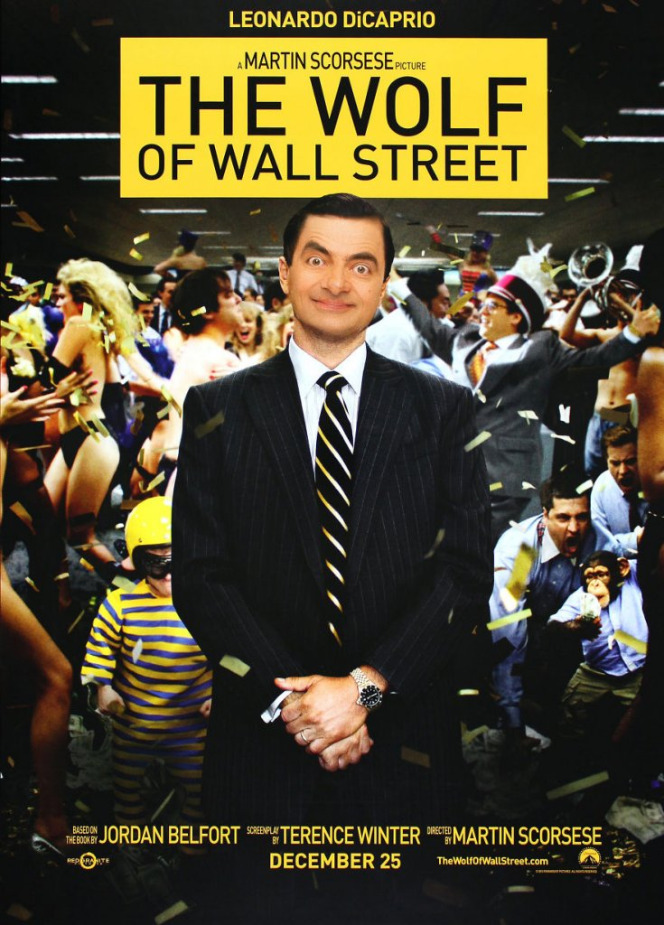 25+ Pictures Which Show What Movies Would Look Like If They Were Played By Mr. Bean