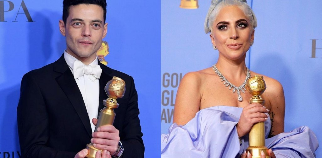 Lady Gaga Fixes Bow tie Of Rami Malek At The Oscars And Won Everybody's Hearts