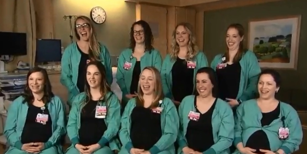Baby Boom! 9 Delivery Nurses Of This Hospital Are Pregnant At The Same Time