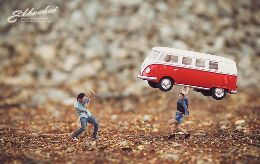 Photographer Turns Real People Into Adorable Miniatures, See The Amazing Results!