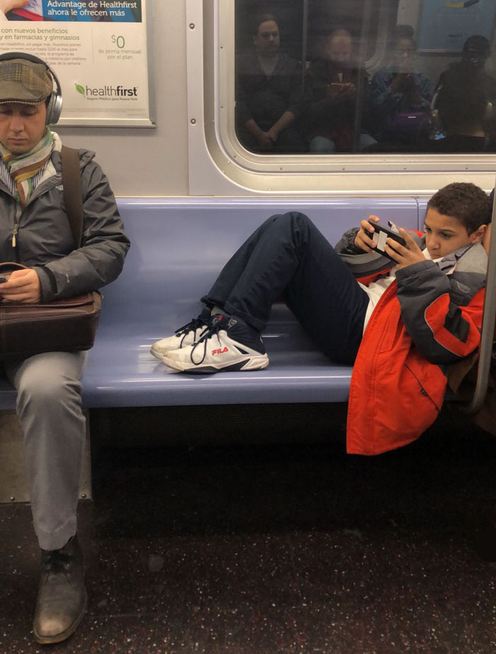 Kid on subway