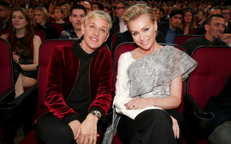 Ellen DeGeneres and Portia de Rossi with an age gap of 15 years
