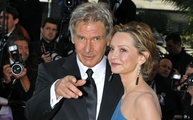 Harrison Ford and Calista Flockhart with an age gap of 22 years
