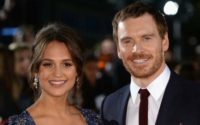 Michael Fassbender and Alicia Vikander with an age gap of 11 years