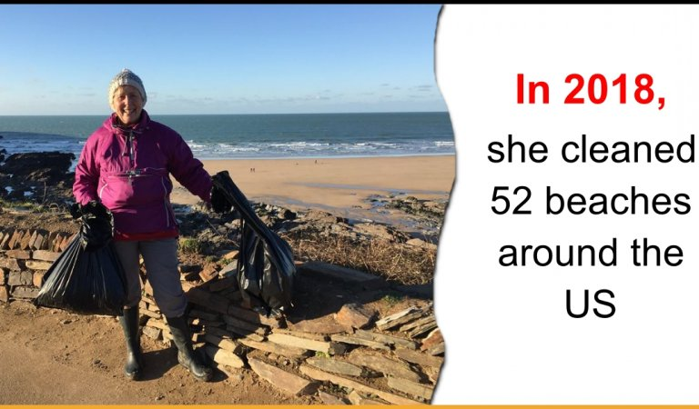 This 70-Year-Old Grandma Cleaned 52 Beaches In One Year To Spread The Message Of Cleanliness