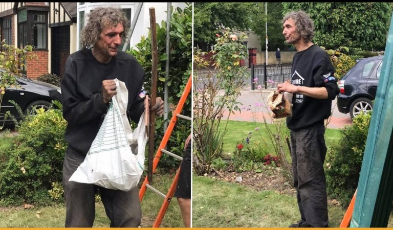 A Simple Act Of Kindness By These Roofers Changed The Life Of A Homeless Man