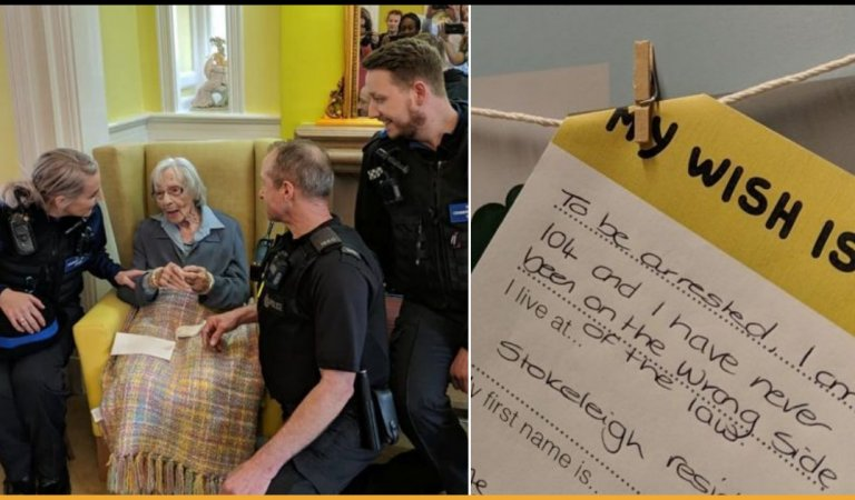 104-Year-Old Woman Wished To Get Arrested Once In Her Life And The UK Police Made It Come True