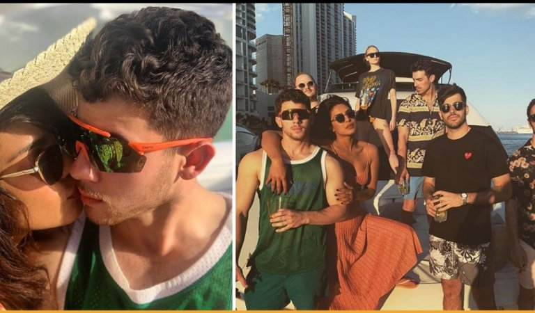 Pics Of Priyanka Chopra and Nick Jonas Having A Vacation In Miami Is Major Goals