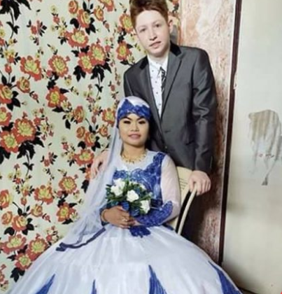 American Man Accepts Islam After Marrying The Domestic Worker He Met In An Online Game