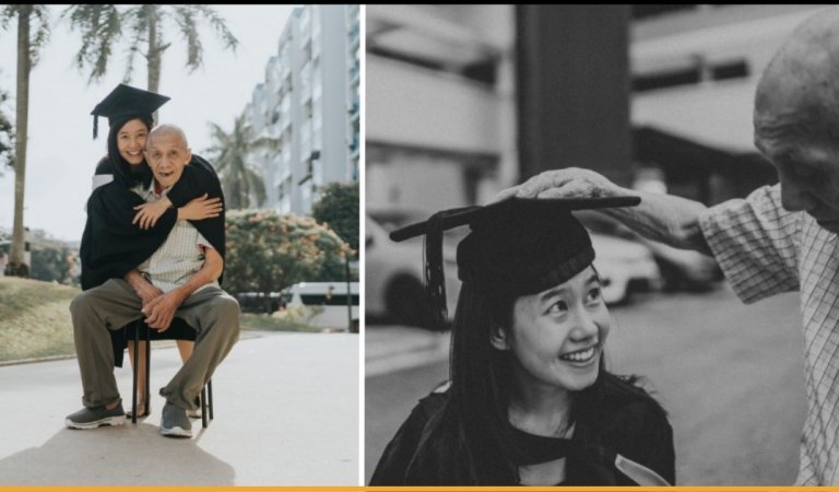 Singaporean Student Flew From Australia To Spend Her Graduation Day With Ailing Grandfather