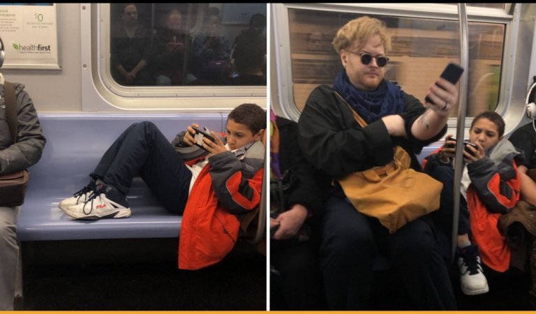 Kid Refused To Move His Legs On A Subway, So Man Did Something Unthinkable