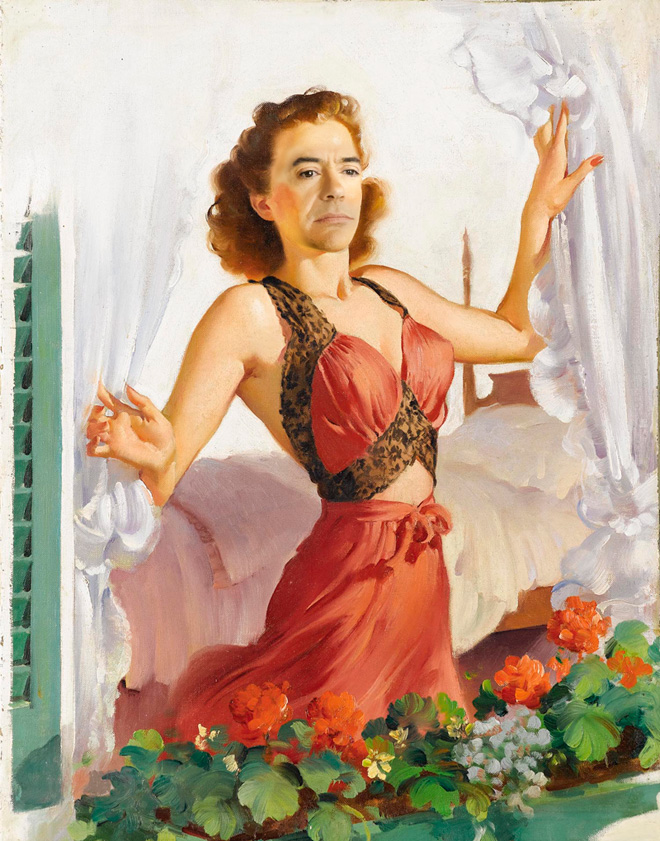 Robert Downey Jr. Portrayed Himself As Pin Up Girls And It's Really Amazing