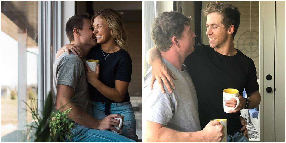 Friends Recreate Couple's Engagement Pictures And The Result Is Better Than Original