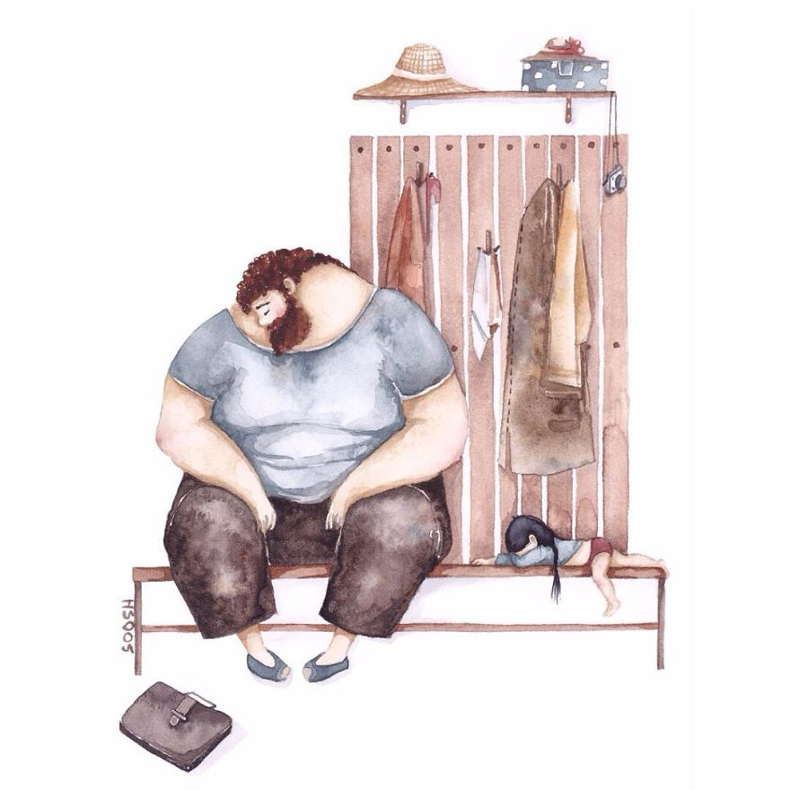 Illustrations Shows How Men Changes After Becoming Father Of A Daughter