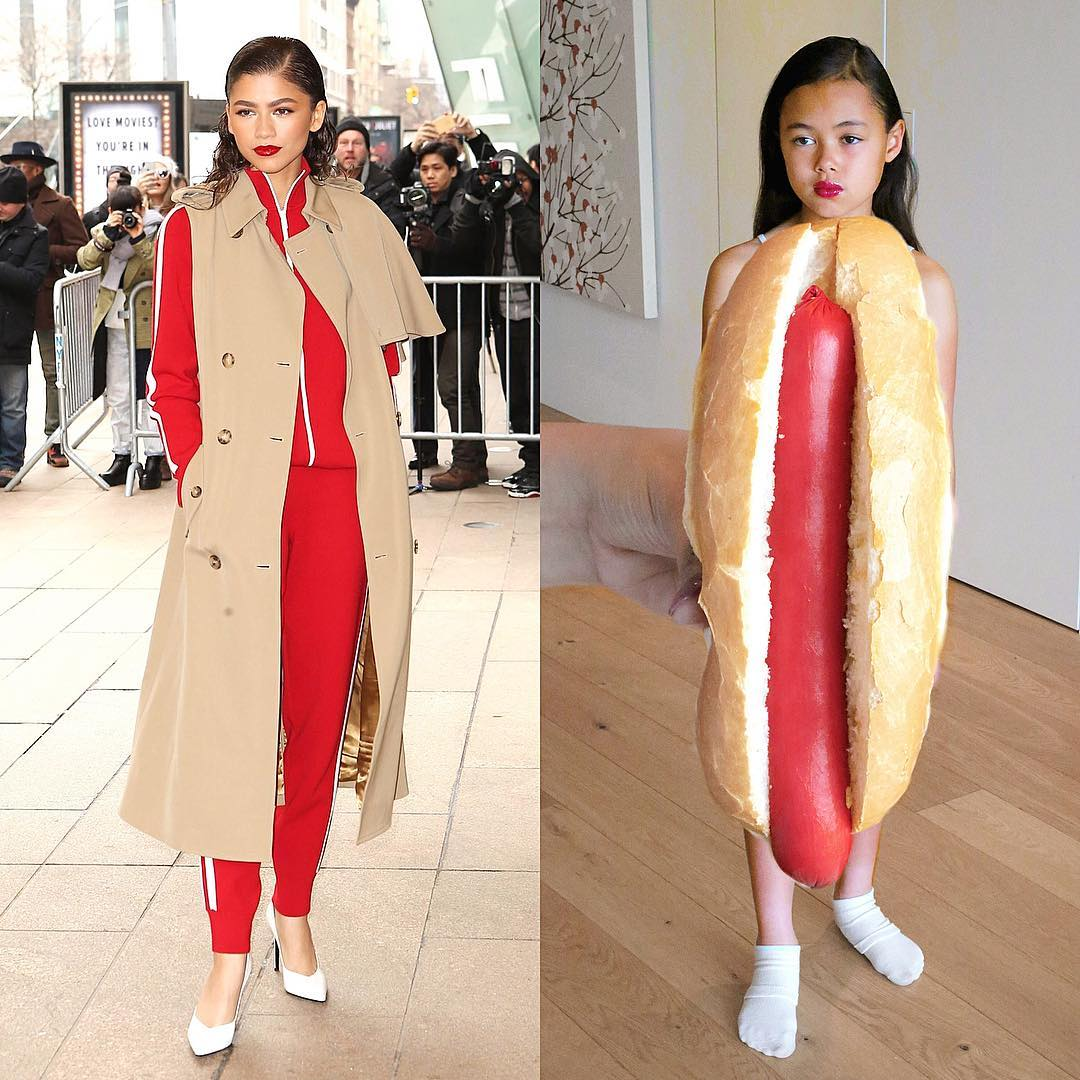 celebrity outfits recreated by 9-year-old