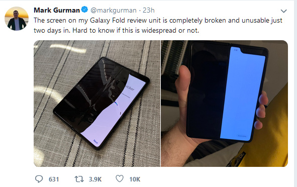 Samsung Responds to The Wrecked Screens Incidents of The Newly Launched Galaxy Fold
