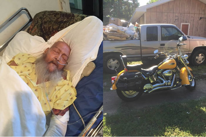 Man Wanted To Hear Harley's Roar While Taking His Last Breaths, Over 100 Bikers Came To Fulfill His Wish