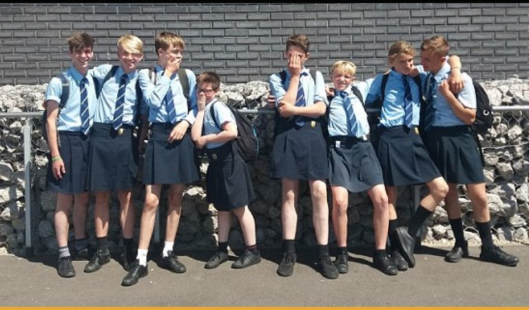 After Shorts Being Banned In High School, Boys Find Wearing Skirts A Way To Beat The Heat