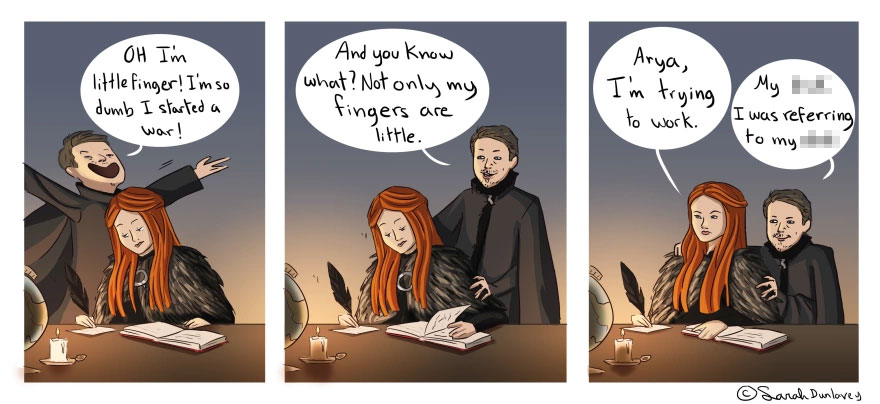 Behind The Scenes Of Game Of Thrones In Comic Strips By Sarah Dunlavey