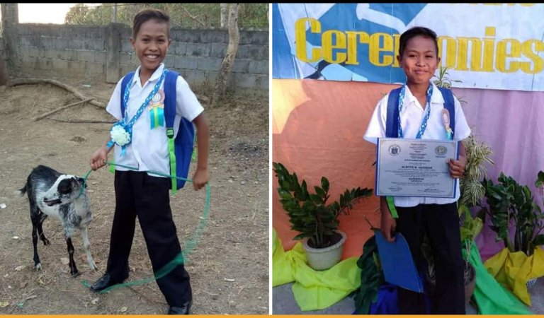 This Little Boy From Philippines Asked For A Goat As His Graduation Gift