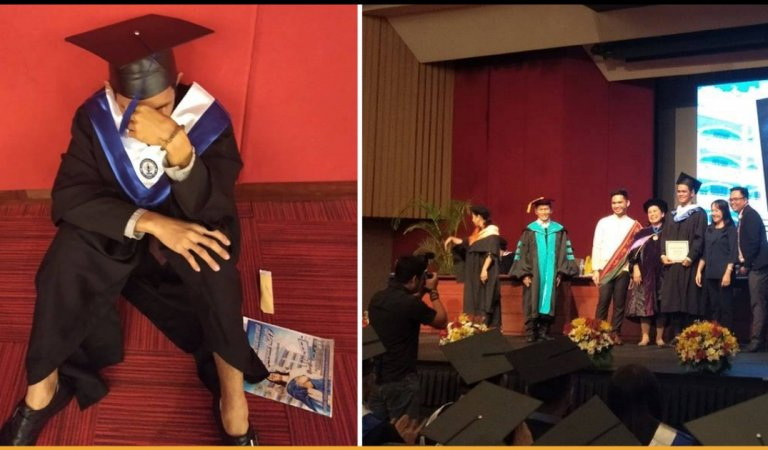 University Topper Broke Down In Tears As His Parents Didn't Bother To Come To His Graduation