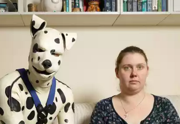man thinks he is a dog trapped inside human's boy and calls himself human pup