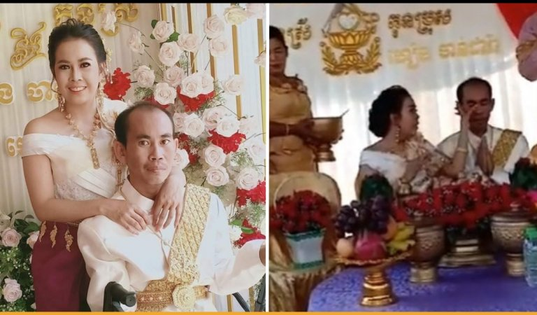 Tears Of Sadness Rolled Down When Cambodian Groom Tied The Knot With His Own Sister