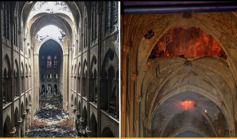 Images Reveal Damages Notre Dame Cathedral In Paris Went Through After The Fire