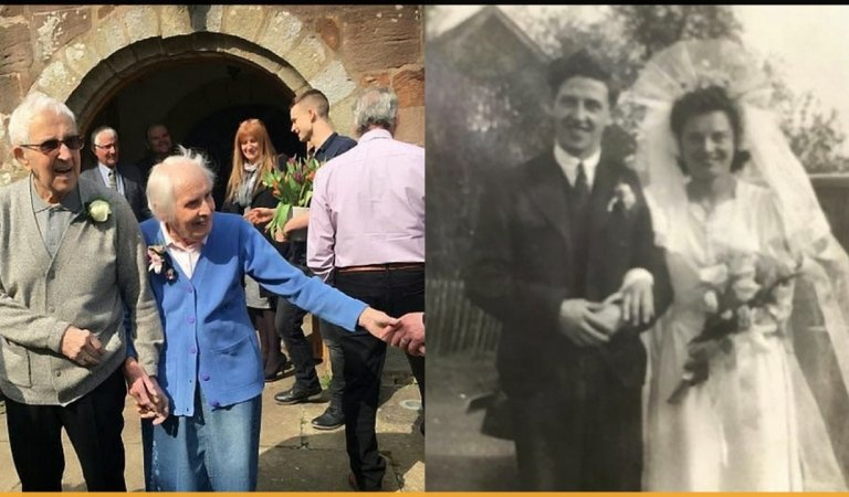 Elderly Couple Went To Church On Their 75th Marriage Anniversary To Renew Their Vows