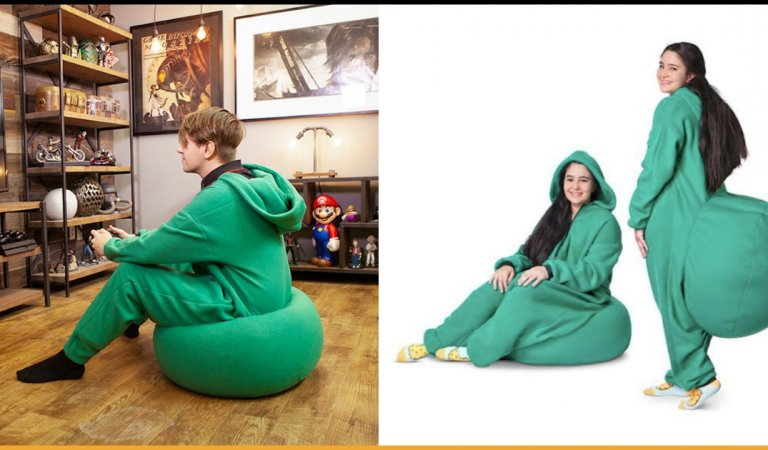 This Bean Bag Onesie Will Let You Sit Wherever You Go