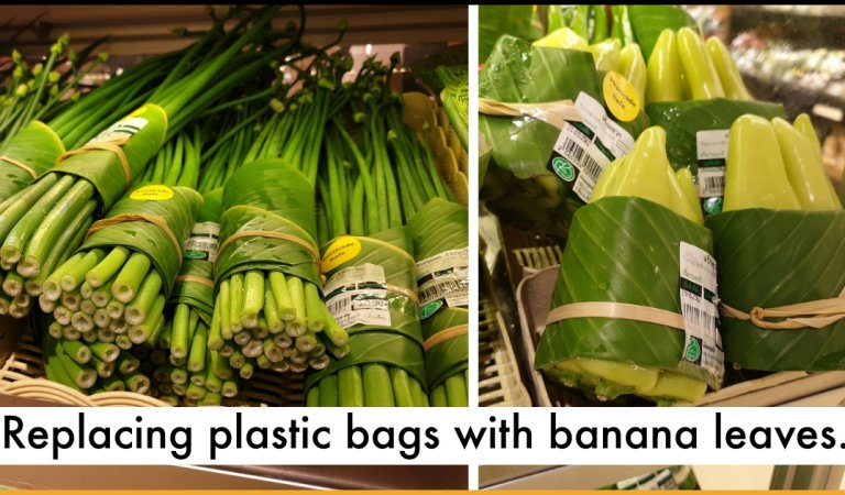 Asian Supermarkets Are Replacing Plastic bags With Banana Leaves