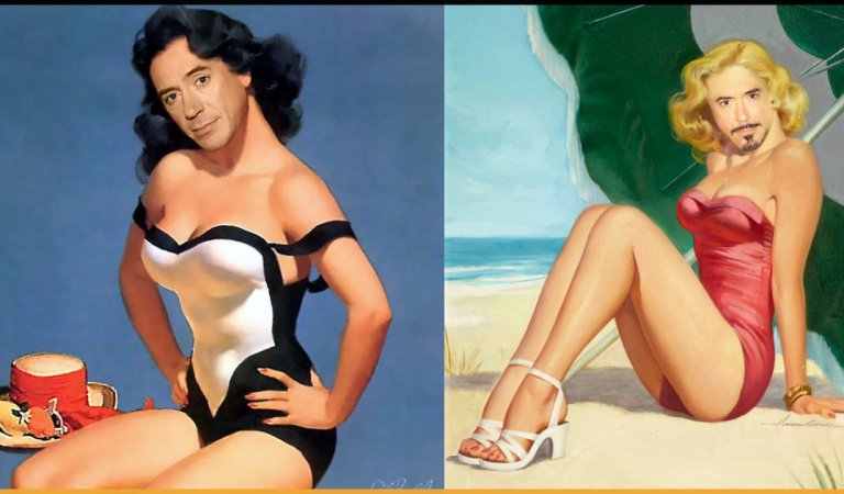 Portrayal Of Robert Downey Jr. As Pin-up Girls Will Make Your Day