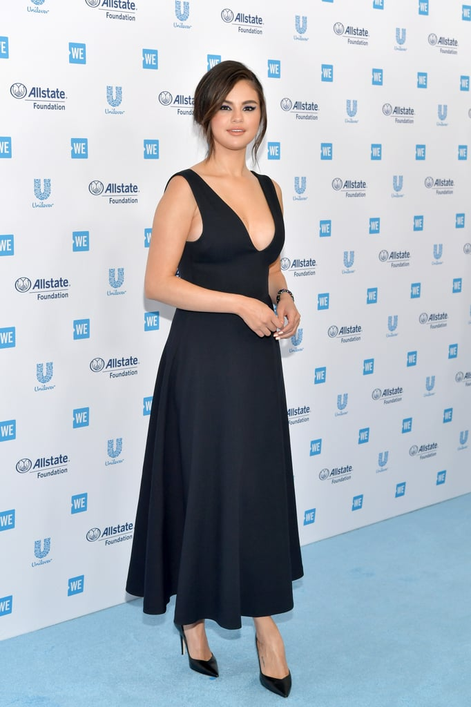 Selena Gomez Looked Ultimate Beauty In Black At The Red Carpet Of We Day California