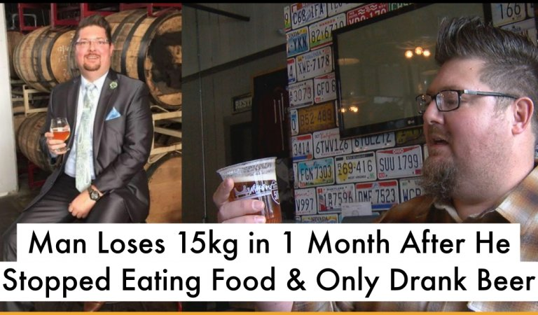 Man From Ohio Loses Weight By Choosing A Diet That Substitutes Food With Beer
