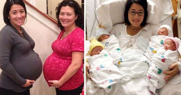Two Sisters Carried Twins For The Same Man, Ended Up Giving Birth On The Same Day