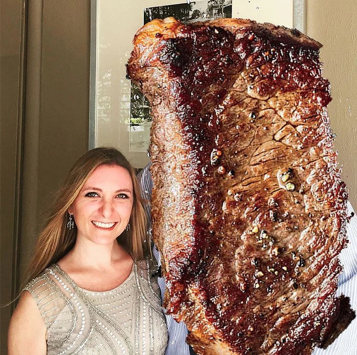 The Woman Covered Her Misteak Of A Boyfriend With A Steak Instead Of Deleting Pictures